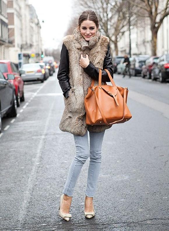Olivia-Palermo-meli-melo-thela-bag-fur-vest