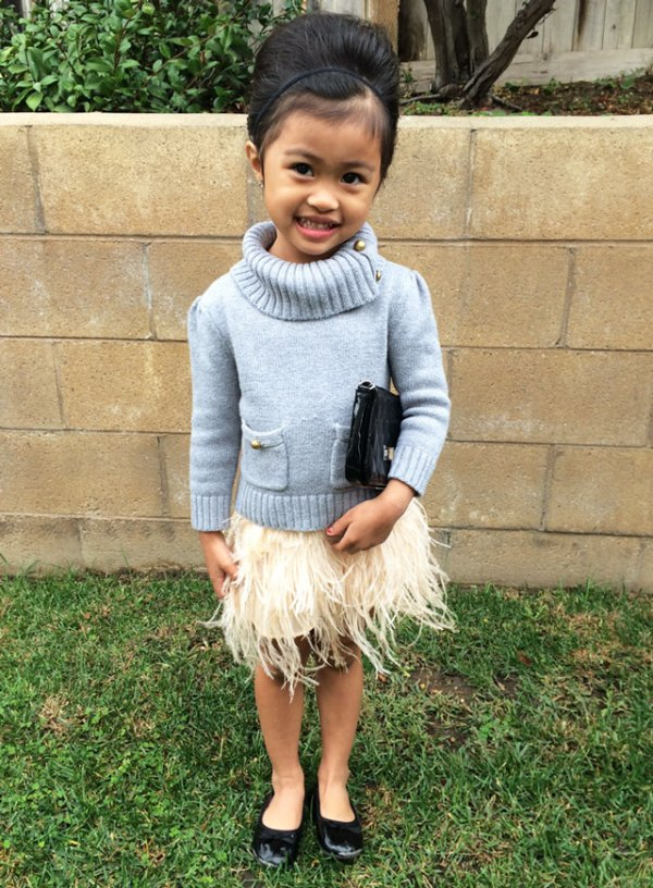 Sydne-Style-A-Z-Trend-Guide-kids-fashion-little-girl-style-turtleneck-feather-skirt-cute-outfit-ideas